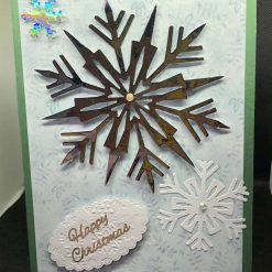 Handmade Christmas card ~ Snowflake