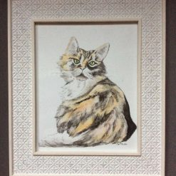 """Framed watercolour painting. """"Belle"""""""