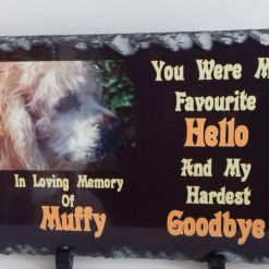 Personalised Pet Memorial Slates 30 x 20 cm approx