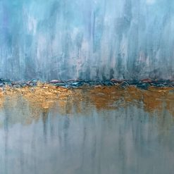 Turquoise and gold painting