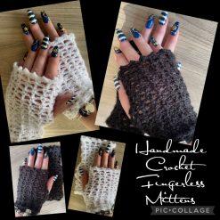 Handmade Crochet Fingerless Mittens