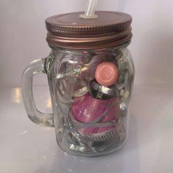 Unicorn mason jar filled