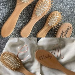bamboo hairbrushes  in 3 sizes