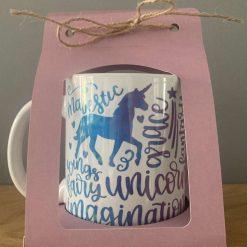 Unicorn mug or coaster(available as a set or individual)