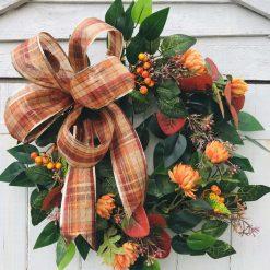 Autumn bow wreath