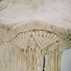 Natural Tenun Antih Macrame Blanket Throws (130 cm x 200 cm)