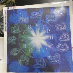 60 x 60 cm diamond art kit (zodiac clock)