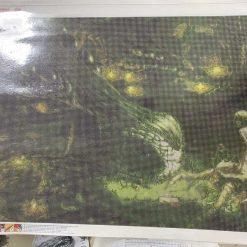 50 x 70 cm diamond art kit (green dragon)