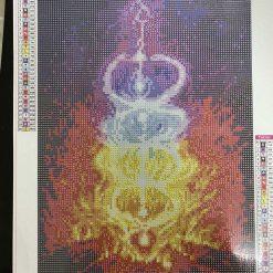 30 x 40 cm diamond art kit (shakra fire)
