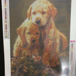 30 x 40 cm diamond art kit (lab pups)