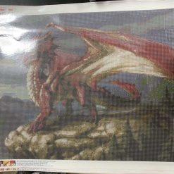 50 x 70 cm diamond art kit (red dragon)