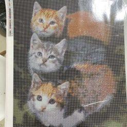 50 x 70 cm diamond art kit(kittens)