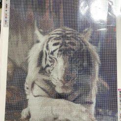 50 x 70 cm diamond.art kit (white tiger)