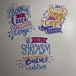 Fun Stickers x 3