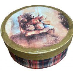 Handmade wooden jewellery box keepsake box gift box teddy bear decoupage Christmas Gift Secret Santa gift