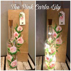 Bottle light,Bottle Lights-Hand Painted Floral designs