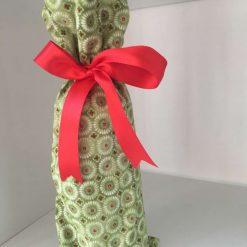 Reusable Fabric Christmas gift bag bottle bag for wine