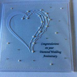 Handmade Diamond Wedding Anniversary Card