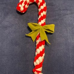Candy Cane Christmas Dog Pull Toy