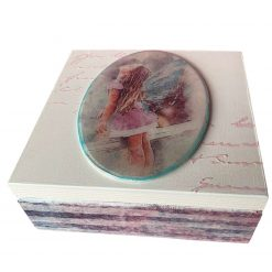 Handmade Wooden Keepsake/Jewellery Box With Girl Angel, unique gift, friend, Valentine's Day gift for her