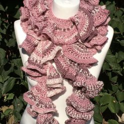 Corkscrew Crochet Scarf - Pinks
