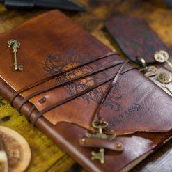Laser engraved Leather journal