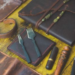Set of leather wallet and Leather journal