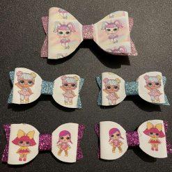 LOL doll hair bow clips