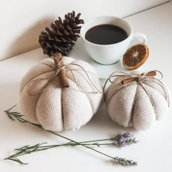 Fabric Pumpkins, Halloween decorations, Autumn pumpkin decorations, Cinnamon scented pumpkins, Autumn gifts for her, House warming gift.