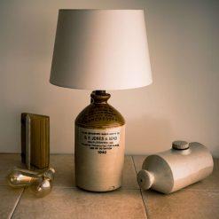 Bottle Lamp - Demi John Vintage  - SF JONES Manchester - up-cycled table lamp.