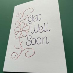 Embroidered Get Well Card