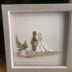 Pebble art, Wedding picture
