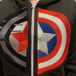 Embroidered Zipped Hoodies - Winter Solder/Captain America