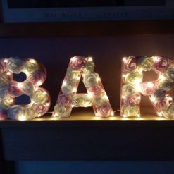 Floral personalised letters with lights