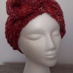 Hand knitted scarf/head wrap