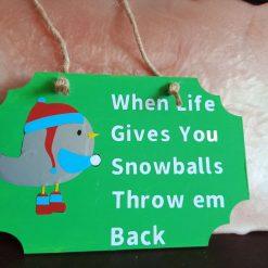 Bird snowball plaque