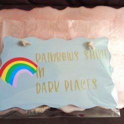 Rainbows plaque