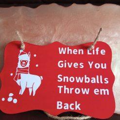 Alpaca snowballs plaque