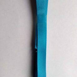 Berisfords 3m hank of 9mm peacock blue satin ribbon free postage
