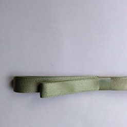 Berisfords 3m hank of 9mm khaki green satin ribbon free postage