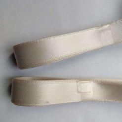Berisfords 3m hank of 15mm pearl satin ribbon free postage