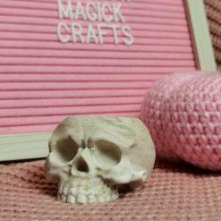 Halloween Custom Skull Tealight Holder (free battery tealight included)