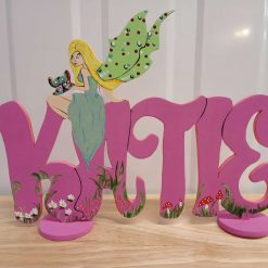 Handmade personalised wooden name plaque