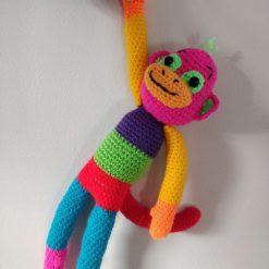 Crochet Rainbow Monkey. Free UK Delivery.
