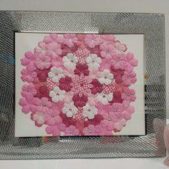 Pink paper flower mandala