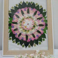 Fabric flower Mandala