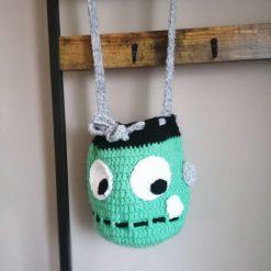 Handmade crochet Frankenstein bag