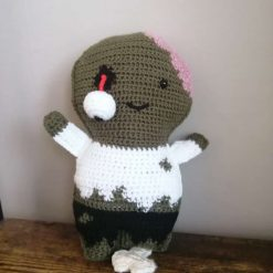 Handmade crochet toy zombie