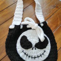 Handmade crochet skeleton bag