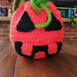 Handmade Halloween crochet witch bag
